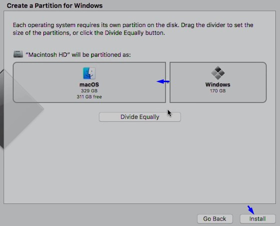 Best Methods to Install Windows on Mac - Create partition for Windows.jpg
